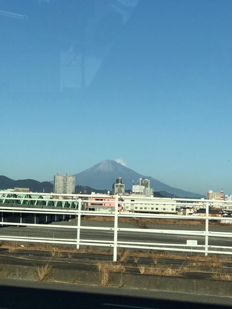 2021年1月4日の富士山
