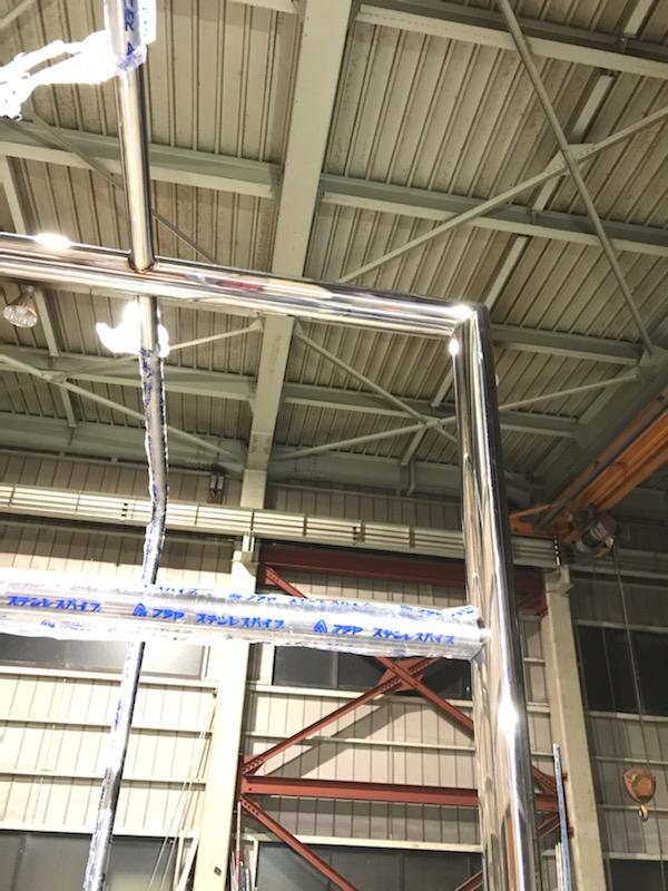 ステンレス製登り棒